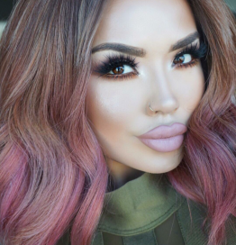 Rose Gold Hair Color 18