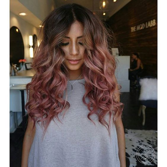 Rose Gold Hair Color 20