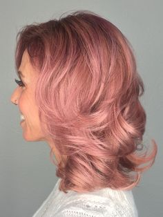 Rose Gold Hair Color 4