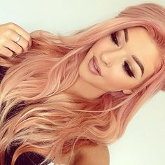 Rose Gold Hair Color 6