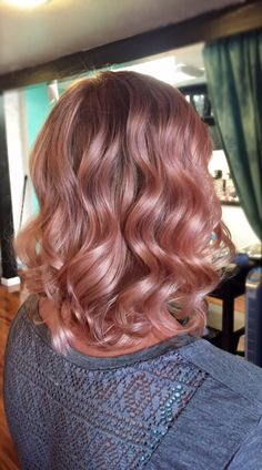 Rose Gold Hair Color 7