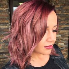 Rose Gold Hair Color 9